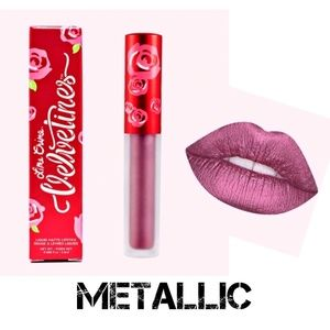 Lime Crime Velvetines Metallic Matte Lipstick Vibe